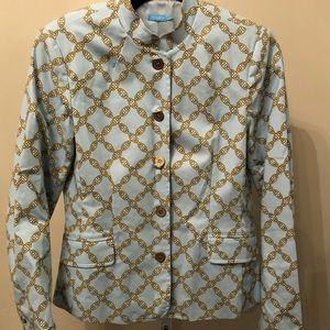 J. McGlaughlin Baby Blue Chain Detail Blazer (S/M)